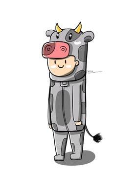 Cow Costume Cartoon