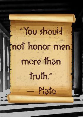 Plato truth over honor