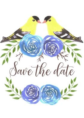 Save the date birds