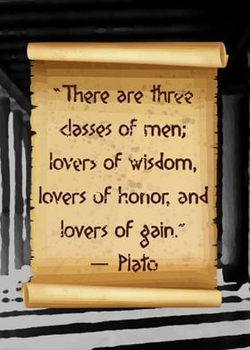Plato lover of