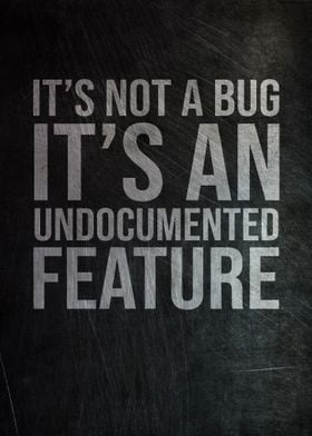 It Is No Bug It is Feature