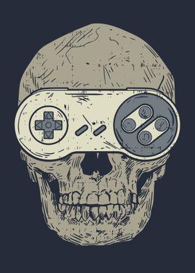 Gaming Controller Skull