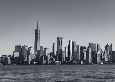 Lower Manhattan NYC BW