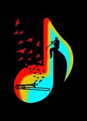 Music Trombone Player