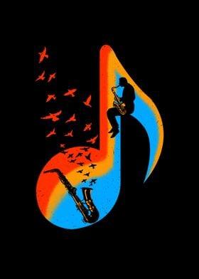 Music Saxophone Player