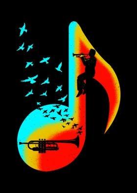 Music Trumpet Player