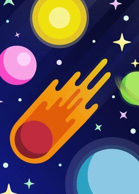 Comet Adventure in Space