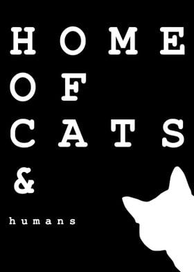 Cat lover home typography