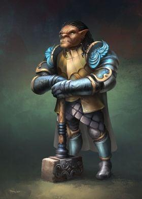 Gauwyn Half Orc Fighter