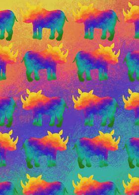 Rainbow Rhino Stampede