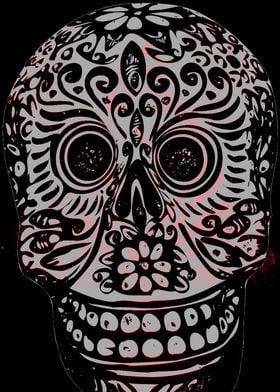 Gray Sugar Skull