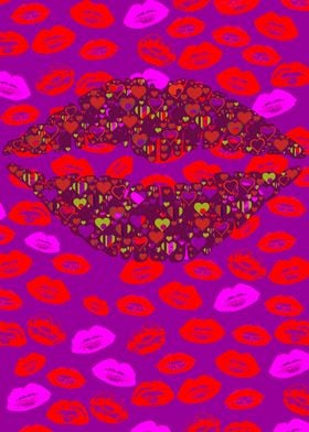 Lips Pattern Print