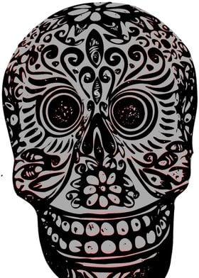 Gray Sugar Skull 2