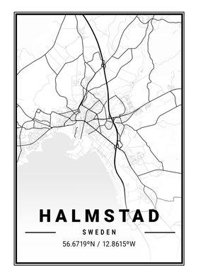Halmstad Light City Map