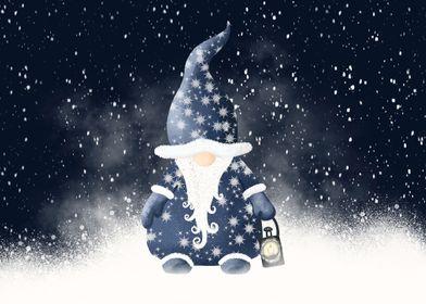 Winter Night Nordic Gnome