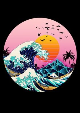 The Great Wave Retro Synth