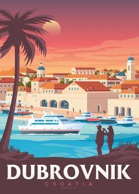 Dubrovnik Travel Poster