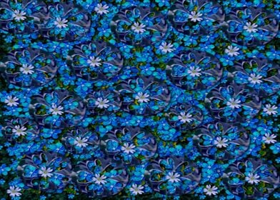 sea flowers in the blue