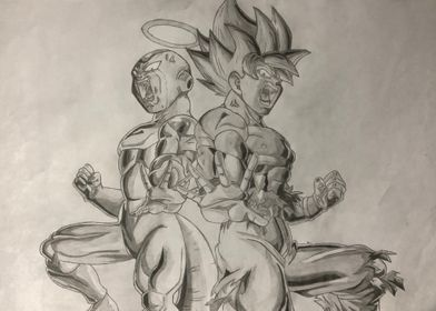 Frieza and Goku Drawing