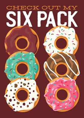 Sixpack Donut saying