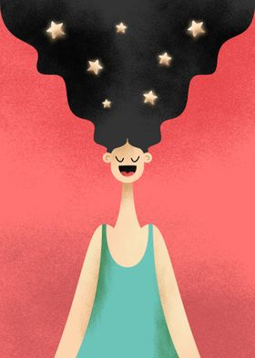 Stars in the hair