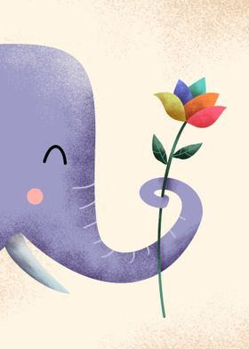 Flower and Elephant