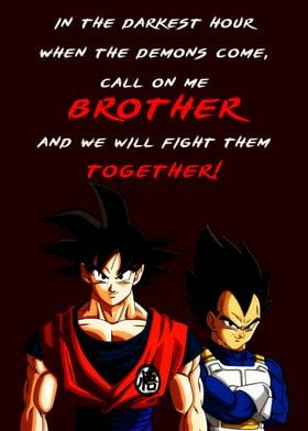 Goku Vegeta Anime Quote