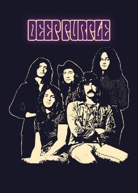 Deep Purple' Metal Poster Print - AsRiyan RoMeydi | Displate