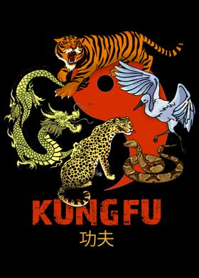 Kung Fu 5 Animals Yin Yang