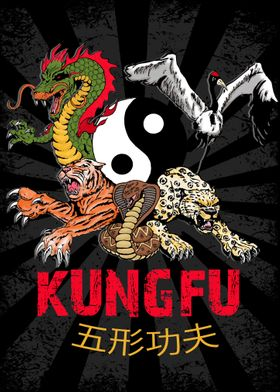 Kungfu 5 animal styles