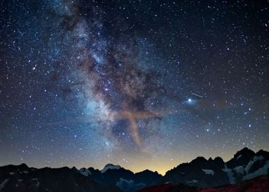 Milky Way over the Alps