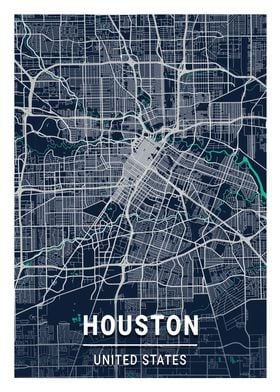 Houston Blue Dark Color