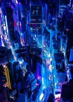 Cyberpunk City Night