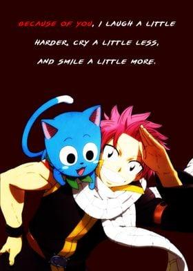 Natsu Happy Anime Quote