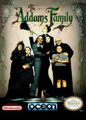 ADDAMS FAMILY NES COVER
