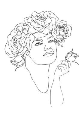 Flower Woman Rose Woman
