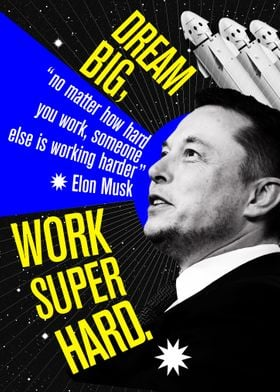 Elon Musk work super hard