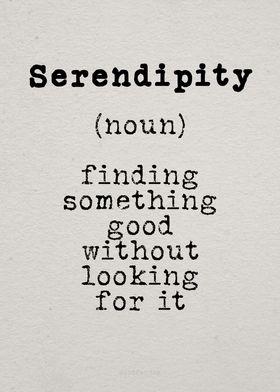 serendipity noun