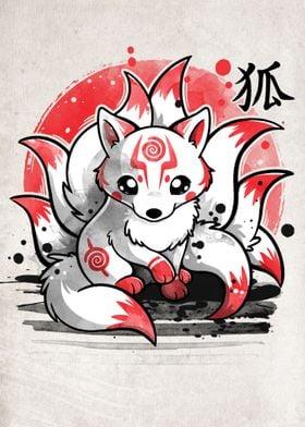 Nine tailed fox spirit