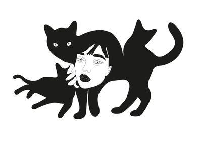 Black Cats Girl