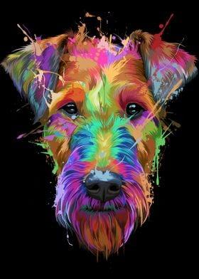 Airedale Terrier Splash