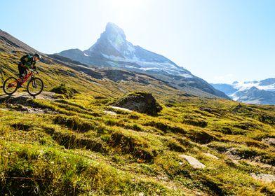 Mountainbiker in Swiss