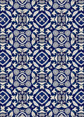 Intense Blue Pattern 06