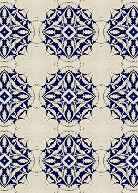 Intense Blue Pattern 05