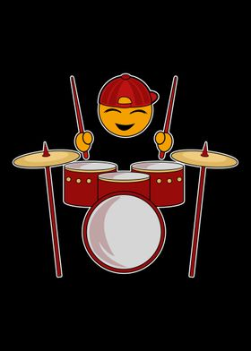 Funny Emoji Drummer Poster Print By Johndonjoe Displate 128 x 128 png 3 кб. displate