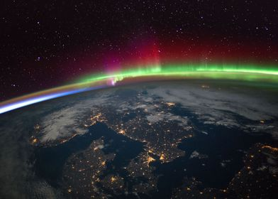 Aurora over Scandinavia
