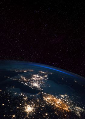 UK from Space at Night