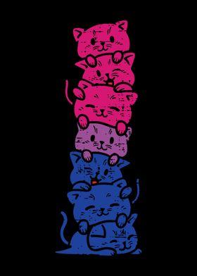 Cat Stack Bisexual Pride