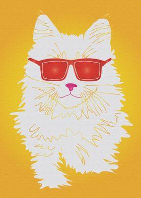 Pop Art Star Cat