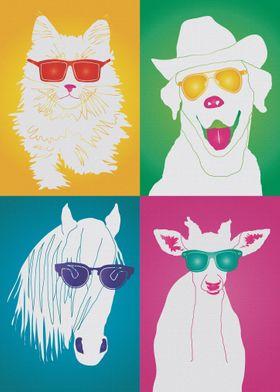 Pop Art Star Animals